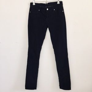 Genetic Denim Blue/Black Corduroy Skinny Jeans.
